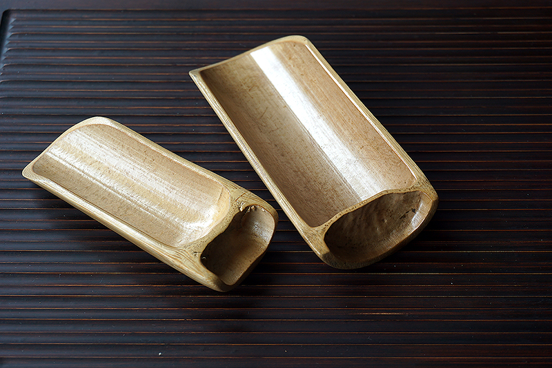 A296 ช้อนตักชาไม้ไผ่