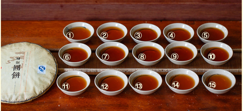 DT62 ชาผู่เอ๋อ สุก Jingzhi yuan bing 3